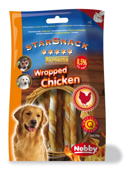 Nobby STARSNACK BBQ Wrapped Chicken