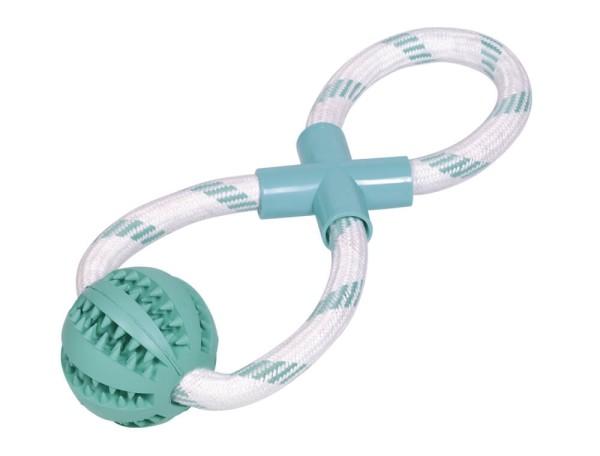 Nobby Vollgummi Ball mit Seil Ø7cm
