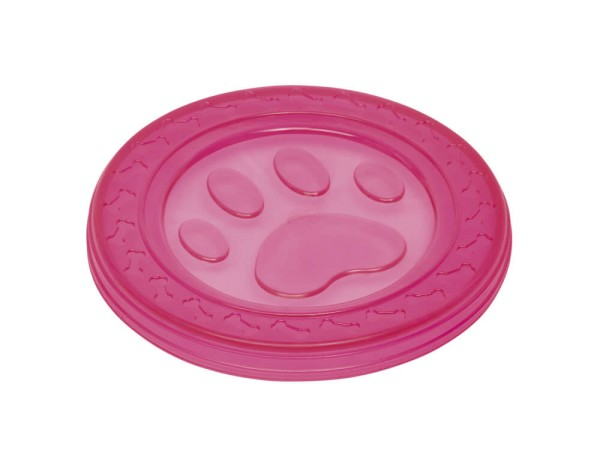 """Nobby TPR Fly-Disc """"Paw"""" pink 22cm"""